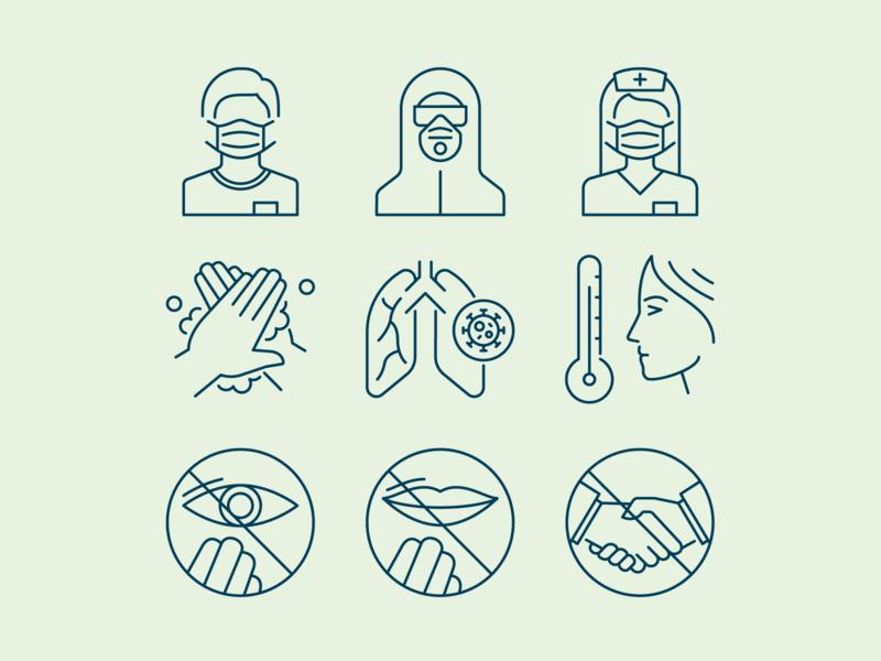 Pandemic Icon Set covid icons virus icons icons yaroslav sidorov pandemic icons covid 19 covid