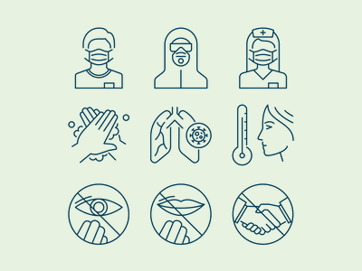 Pandemic Icon Set covid icons virus icons icons yaroslav sidorov pandemic icons covid 19 covid