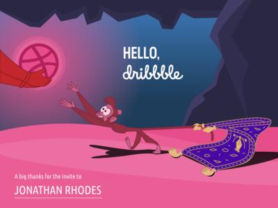 Hello, Dribbble! yaroslav sidorov aladdin illustration hello dribbble debut first shot