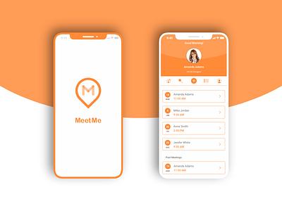 MeetMe App appointment meetting meetme ui ux app mobile  design yaroslav sidorov