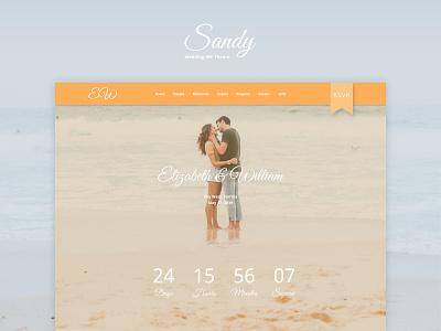 Sandy WordPress Theme sandy website theme wordpress wedding yaroslav sidorov
