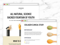 Crushed Tonic Science Page Design