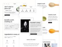 Black & White Website Concept design concept crushed tonic collagen beauty biotin web design ui design ux design