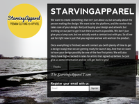 StarvingApparel Coming Soon Page