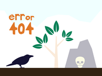 Error 404 - A Raven, a tree and a skull