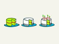 Progressive Enhancement - Pistachio sponge cake