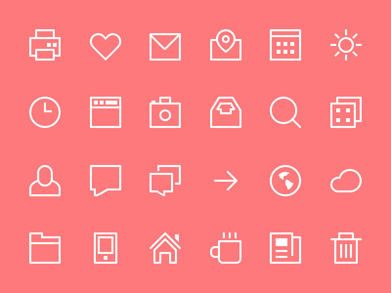Thin Stroke Icons blondes sweden icons freebie psd icon flat stroke