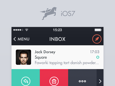 Mochila Mail iOS7 app application sweden icon icons email iphone ios
