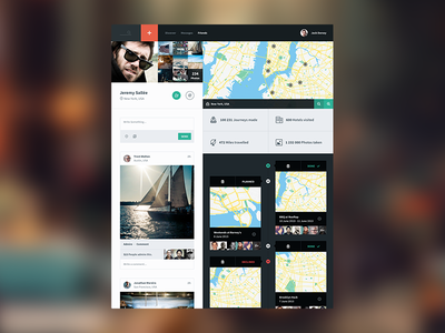 Backpacker Profile icons icon ui app sweden application timeline social flat simple