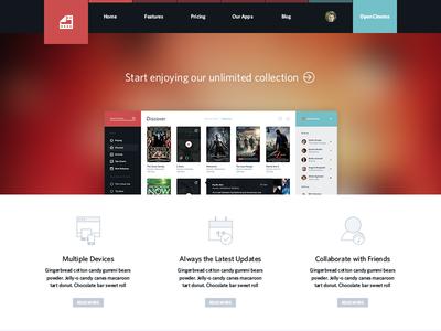 Cinema Web movie tv social application app user interface ui sweden flat simple icon icons