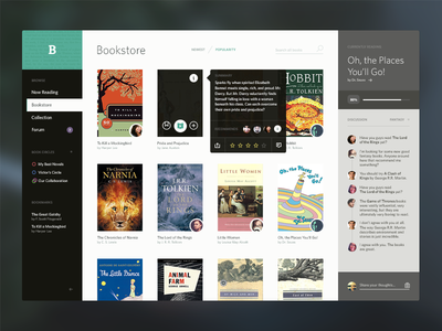 Bookshelf e-books UI icons icon gui ui user interface app flat application social e-books ebooks apps i need