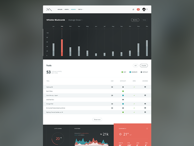 Two Mountains UI clean simple application flat website app web ui icon icons dashboard chart
