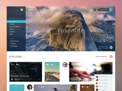 Explore Orm. icons ui icon app flat website application user interface simple social chat clean