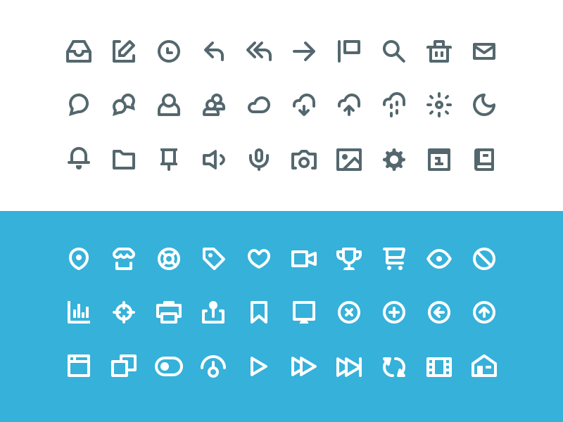 60 Vicons - Free Icon Set icons psd icon freebie ui web website app flat free