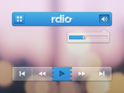 Rdio player music radio ios rdio psd ui website web inspiration buttons icons mobile transparent tooltip tooltips iphone
