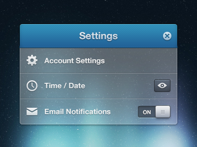 In Space there are only Settings settings popup tooltip psd ui inspiration buttons icons icon app