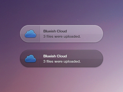 Blueish Cloud Growl (Freebie & Coded) popup tooltip ui inspiration buttons icons mobile psd icon app growl cloud