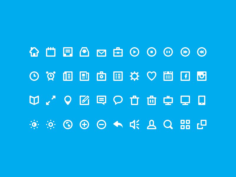 44 Shades of Free Icons design icons freebie psd icon flat sweden set