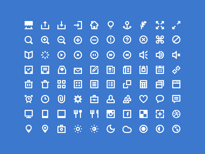 80 Shades of White Icons icon psd freebie icons web social set