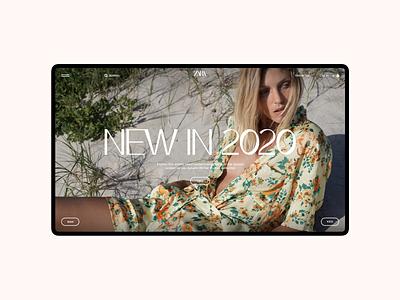 Zara. Main Page zara ux ui site pure grid minimal e-commerce desktop web