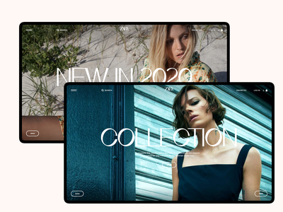 Zara. Main Page II zara web ux ui site pure minimal grid e-commerce desktop