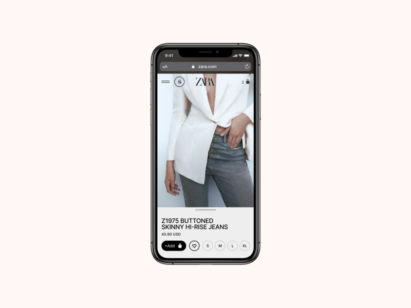 Zara. Product page zara web ux ui site pure minimal grid e-commerce product page desktop