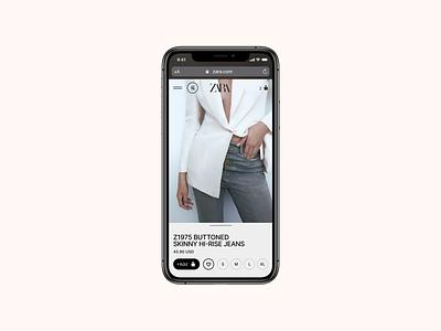 Zara. Product page zara web ux ui site pure minimal grid e-commerce product page desktop