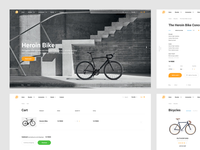 Cyclist Store Concept Page