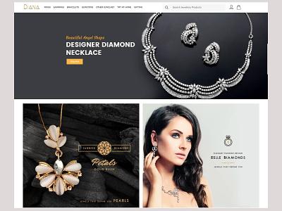Jewellery ui ux simple strap branding amptus homepage responsive
