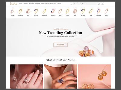 jewellery ux responsive branding design ui amptus homepage jewellery design strap