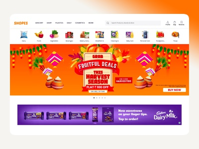Shopes Page New design ui amptus ux simple ecommerce online shop shopping homepage responsive strap sharma sumit shopes
