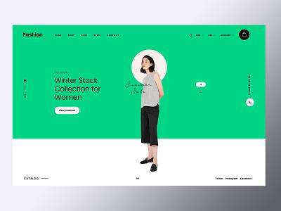 winter collection ux design branding ux illustration ui responsive design amptus homepage strap
