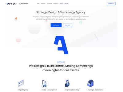 Amptus Home Page design ui strap responsive homepage amptus