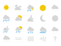 Google now weather icons