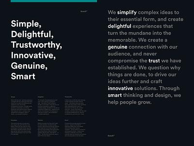 Design Values team design team bench simple principles typography print poster values brand