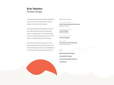 Portfolio Update resume personal art director product designer portfolio