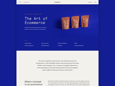Art of Ecommerce post blog article content