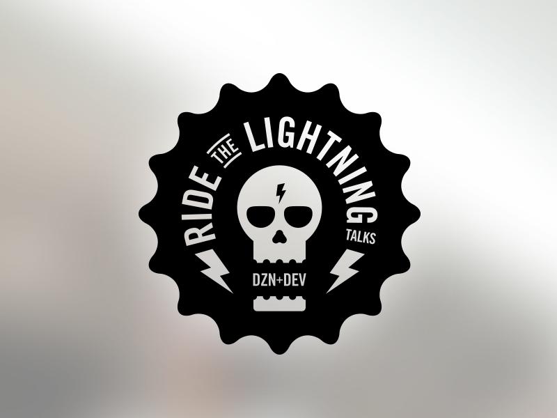 Ride the Lightning! rtl flat design development skulls meetup logo brand mark ride the lightning lightning talks