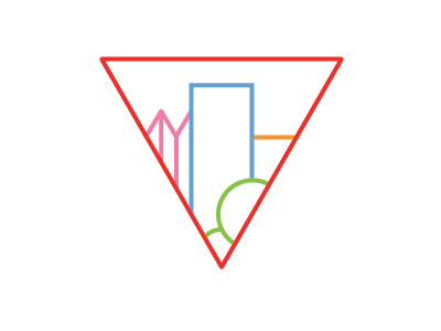 Colourful version of city data logo