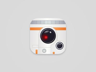 Daily UI #005 BB-8 App Icon ios dailyui 005 ui daily challenge star wars icon app bb8 bb-8