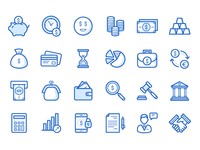 Bank & Finance Icons Set