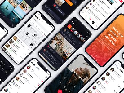 Sienna iOS UI Kit messenger sketch nested symbols ui kit design mobile app social ux ui iphone ios