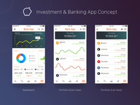Investment & Banking App Concept