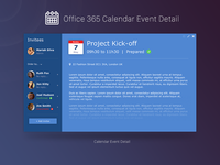 Office 365 Calendar Event Detail
