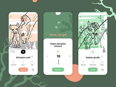 Animal Charity App vector graphic illustration pictogram design ui ios app icons