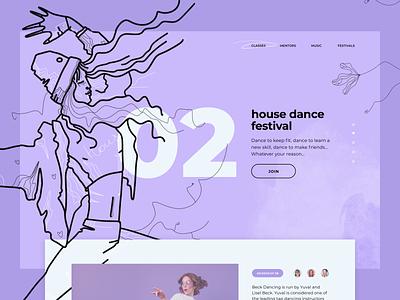 Dancing school landing page webdesign landing procreate art procreate vector graphic design illustration web pictogram app icons