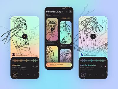 Music Player iOS App ios ui logo design illustration graphic web pictogram vector app icons