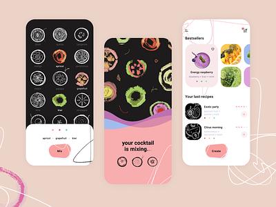 Smoothies iOS App shop ios icons ui graphic illustration pictogram app