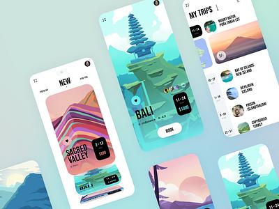 Traveling iOS app 🏝 travell ios app ios ux design ui illustration app icons