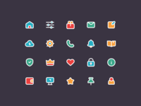 Simple mobile icons